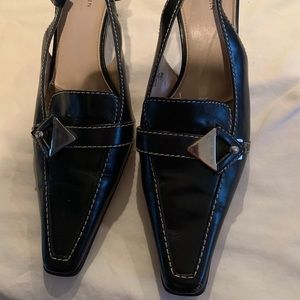 Very comfy black leather heels.